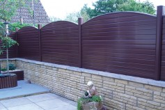 Classic Brown used to create a maintenance FREE fence